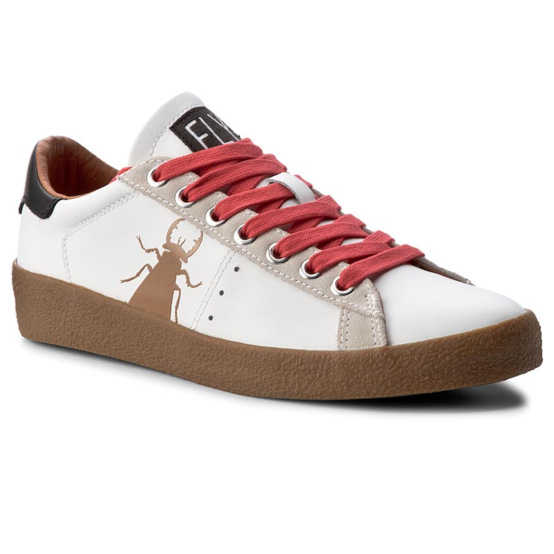 Sneakersy FLY LONDON - Bergfly P143823002 White/Beige (Red Laces)
