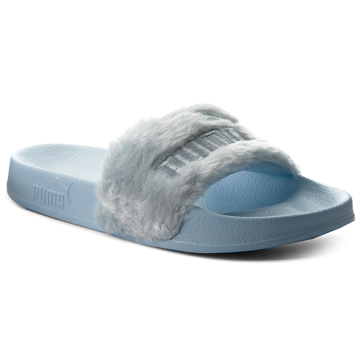 Klapki PUMA - Fur Slide 365772 03 Cool Blue/Puma Silver