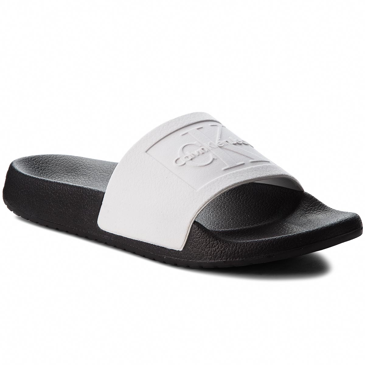 Klapki CALVIN KLEIN JEANS - Christie RE9808 White/Black