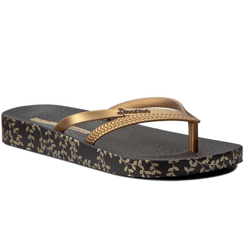 Japonki IPANEMA - Bossa Soft Fem 82064 Black/Gold 21117