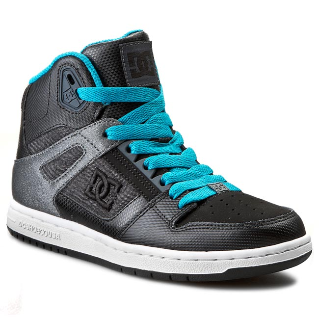 Sneakersy DC - Rebound High 302164 Black/Aqua
