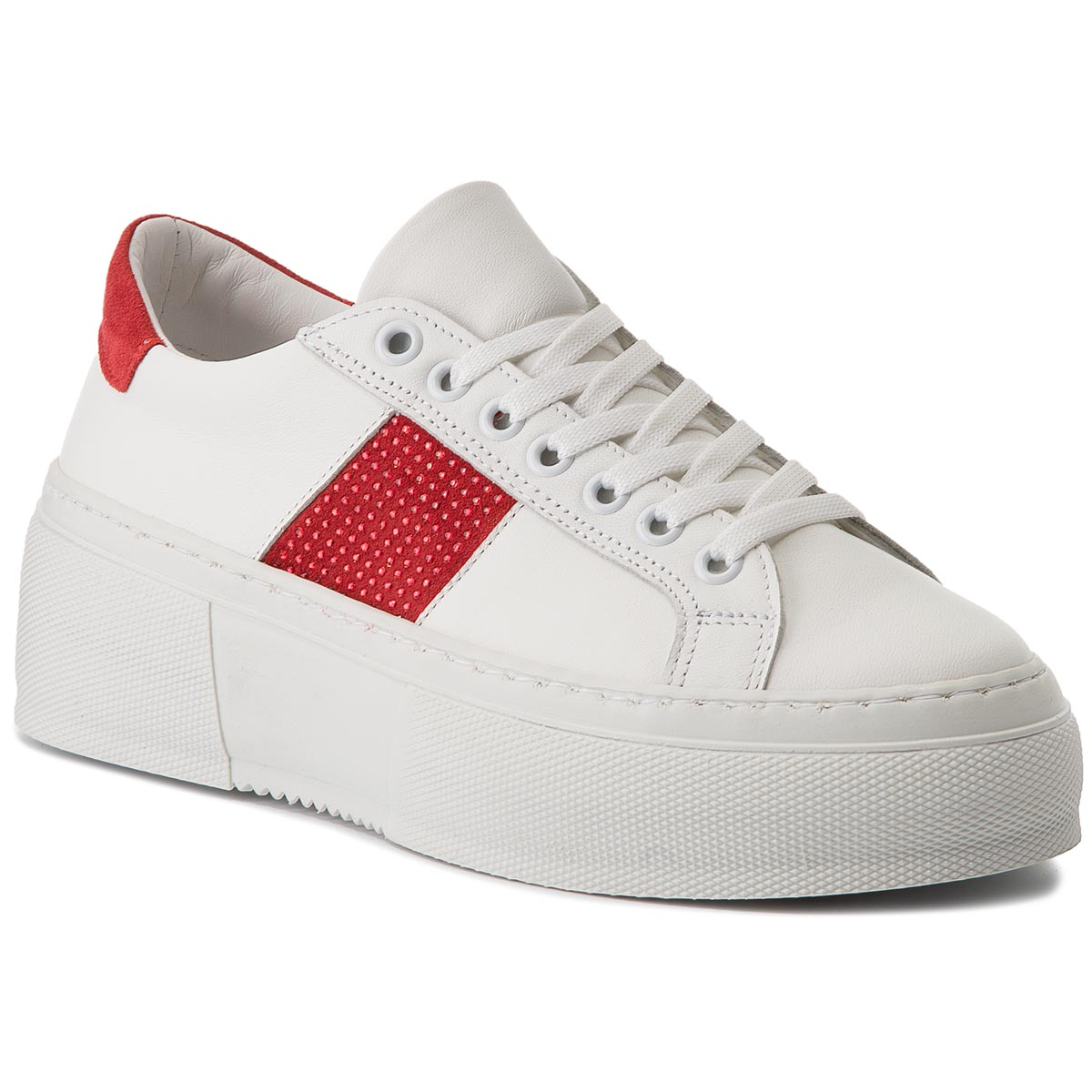 Sneakersy BRONX - 66189-A BSAHARX White/Red 2065