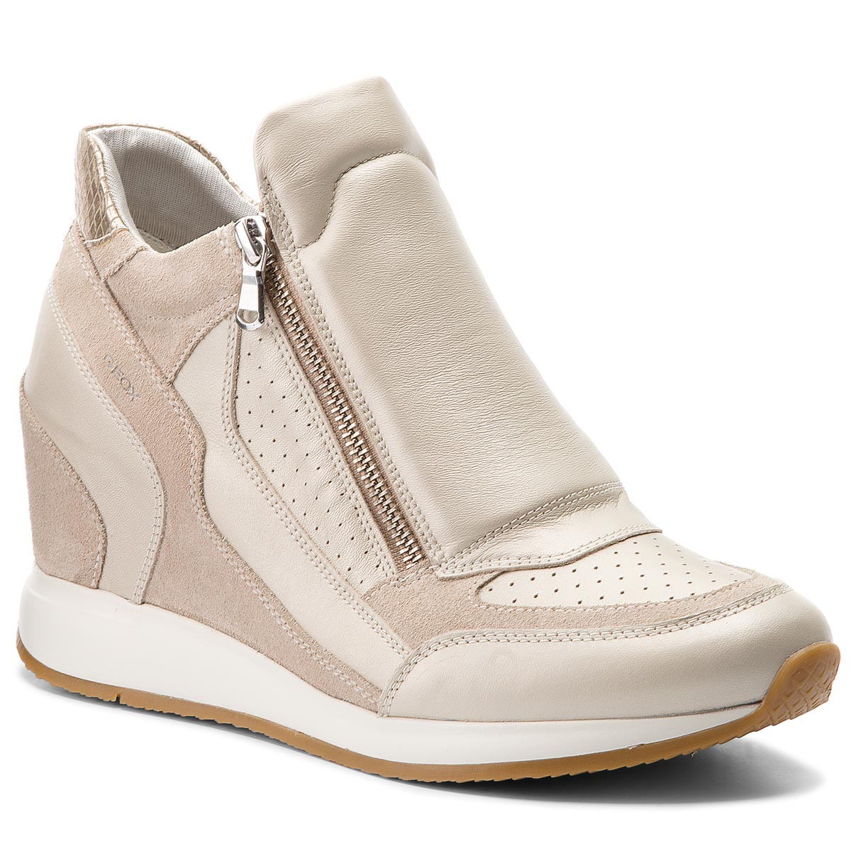 Sneakersy GEOX - D Nydame A D620QA 04422 C2UH6 Platinum/Lt Taupe