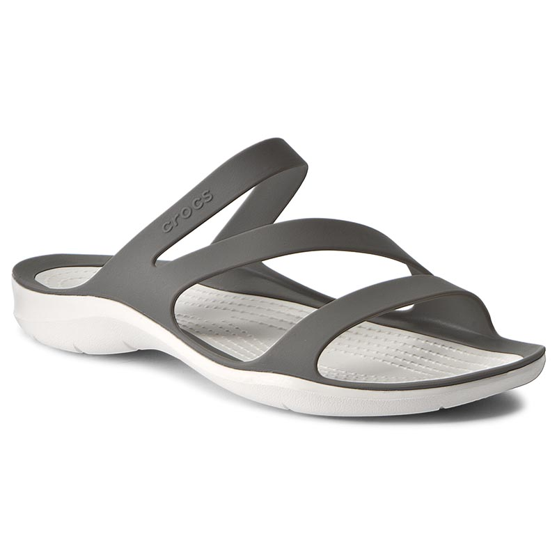 Klapki CROCS - Swiftwater Sandal W 203998 Smoke/White