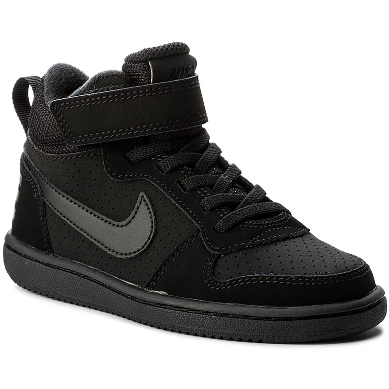 Buty NIKE - Court Borough Mid (PSV) 870026 001 Black/Black