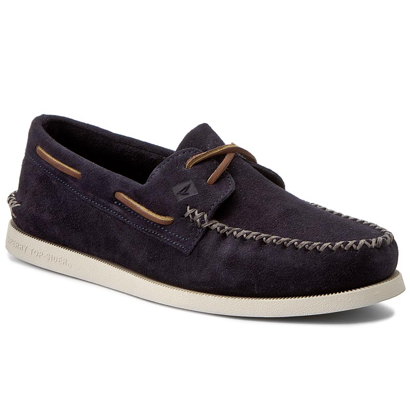 Mokasyny SPERRY - A/O Wedge Suede STS15142 Navy
