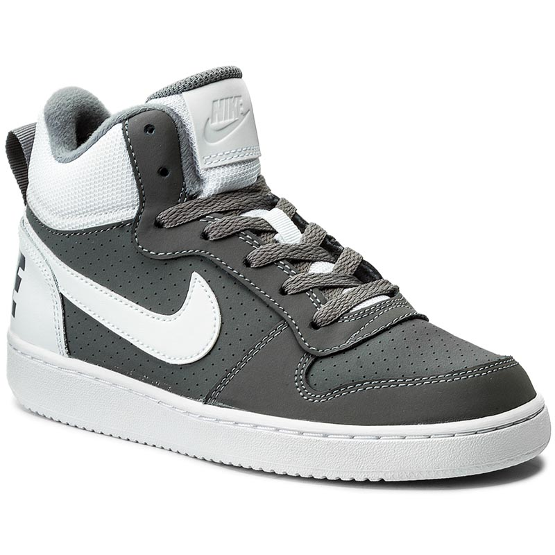 Buty NIKE - Court Borough Mid (Gs) 839977 003 Cool Grey/White