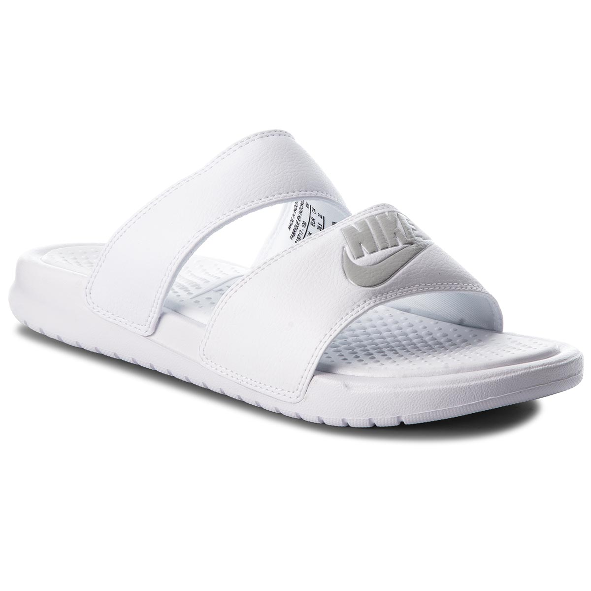 Klapki NIKE - Benassi Duo Ultra Slide 819717 100 White/Metallic Silver