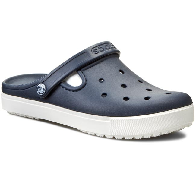 Klapki CROCS - Citilane Clog 201831 Navy/White