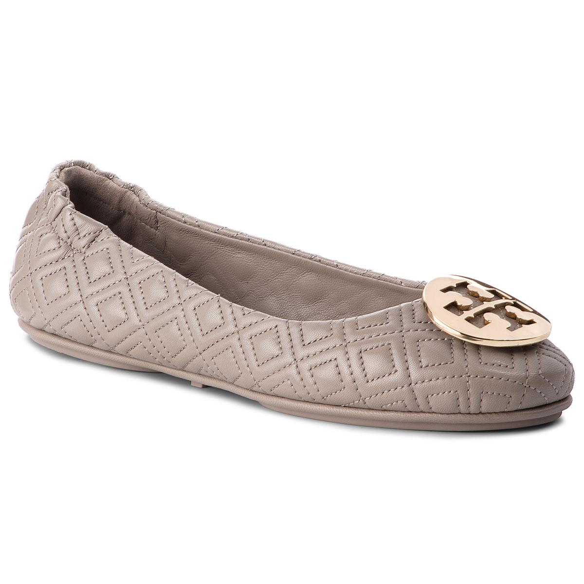 9bc60d18499a9 Baleriny TORY BURCH - Quilted Minnie 50736 Dust Storm Gold 976