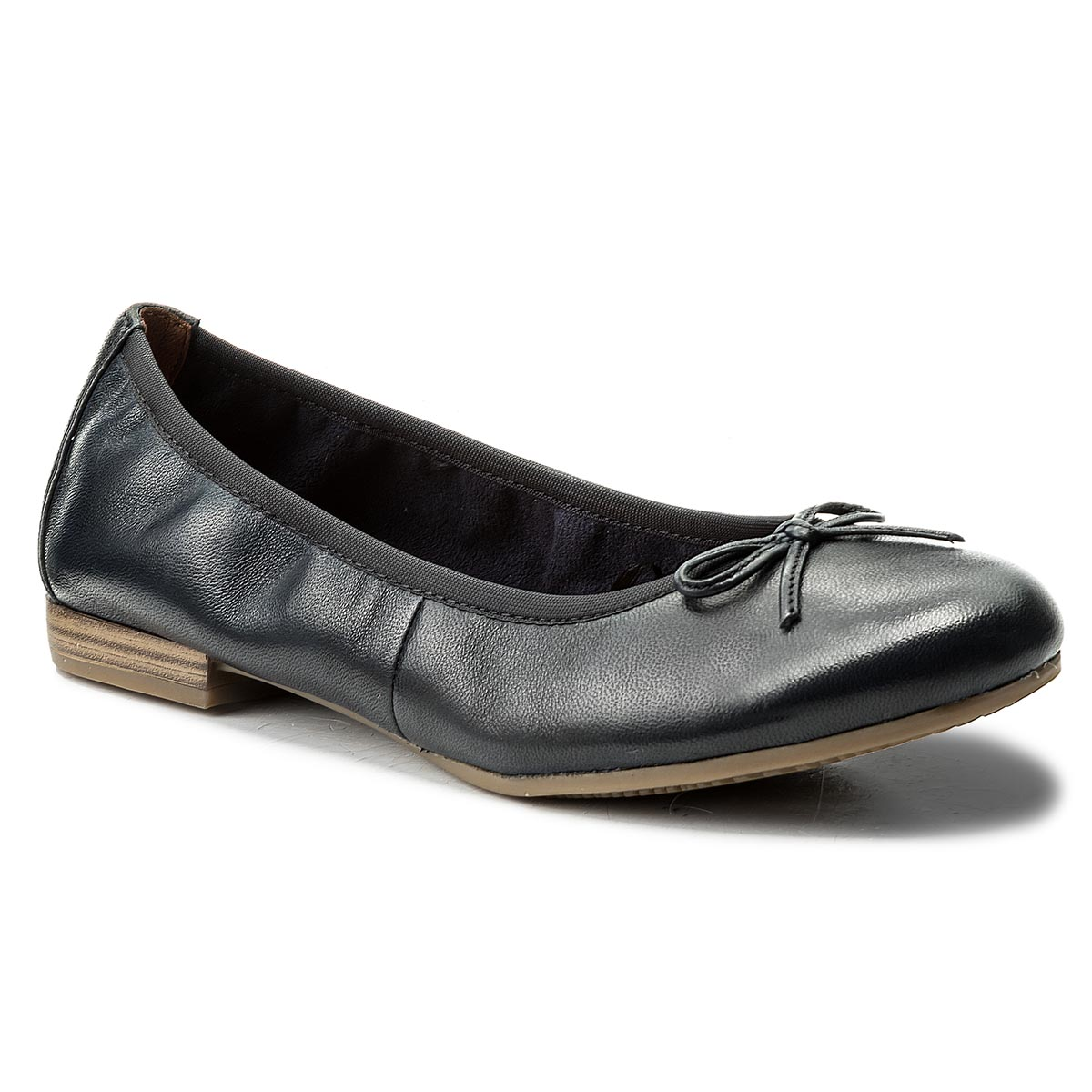 Baleriny TAMARIS - 1-22116-20 Navy Leather 848