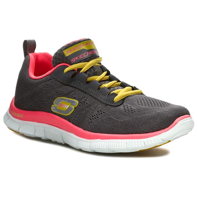 Buty SKECHERS - Sweet Spot 11729/CCHP Charcoal/Hot Pink