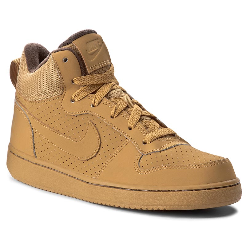 Buty NIKE - Court Borough Mid (GS) 839977 700 Haystack/Haystack