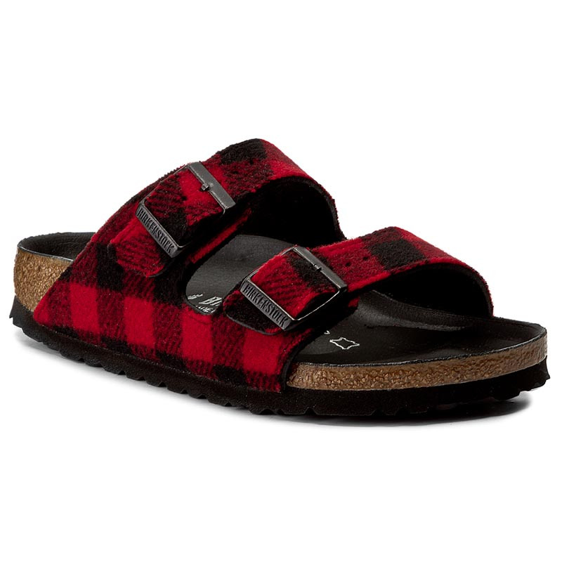 Klapki BIRKENSTOCK - Arizona 1001210  Check Red/Black