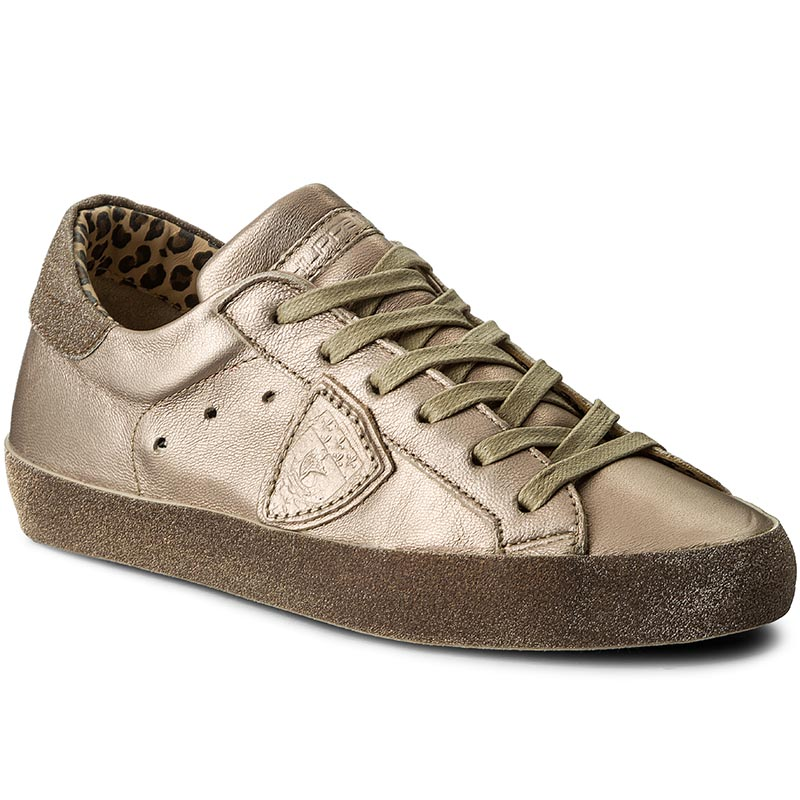 Sneakersy PHILIPPE MODEL - Paris Glitter CGLD ML16 Metal Champagne