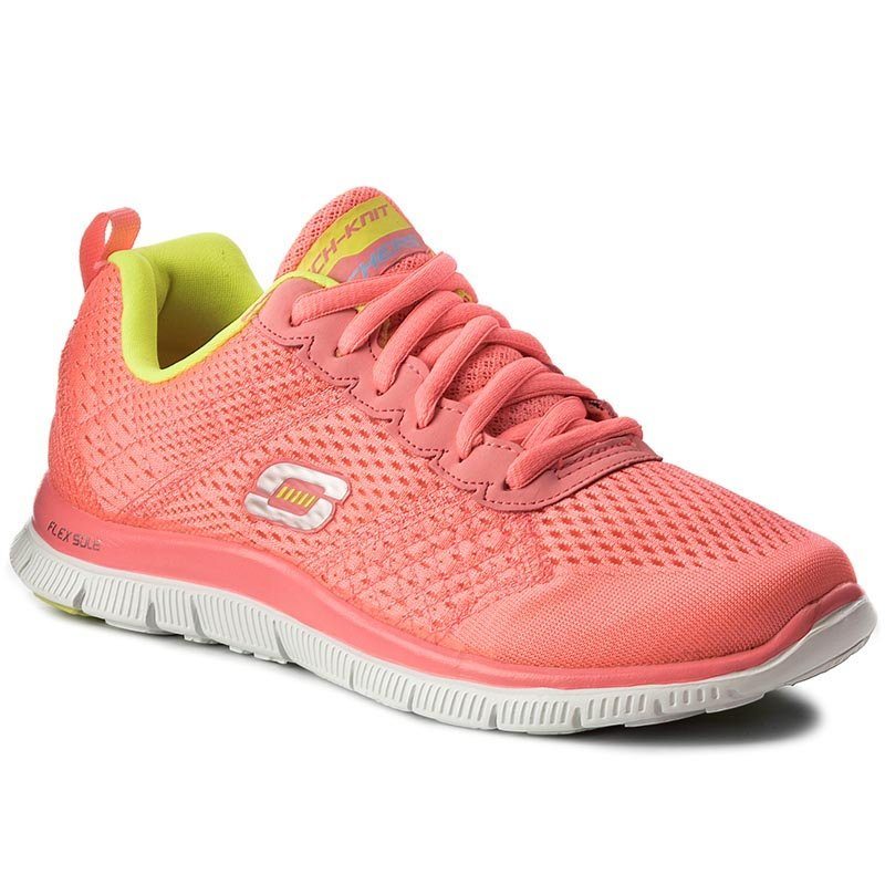 Buty SKECHERS - Obvious Choice 12058/PKYL Pink/Yellow