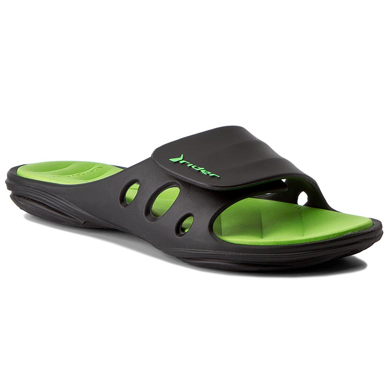 Klapki RIDER - Key IX Fem 81906 Black/Green