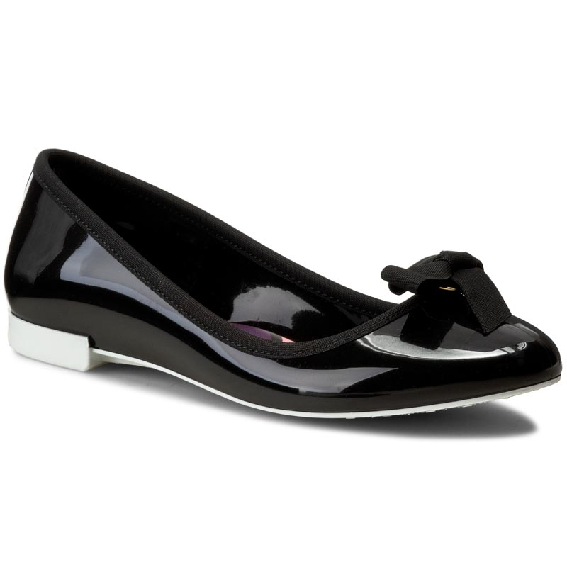 Baleriny LEMON JELLY  - Bow 01 Black/White