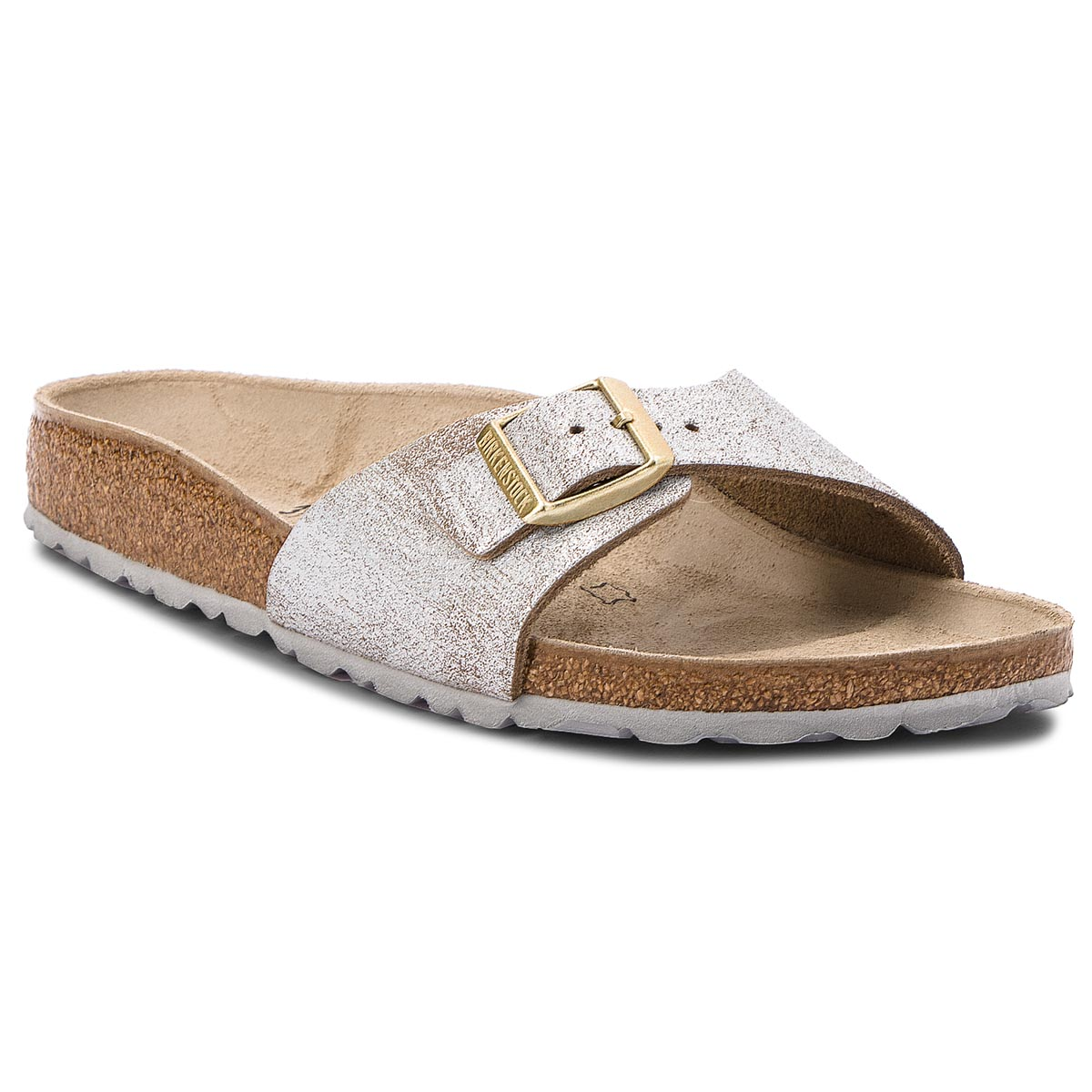 Klapki BIRKENSTOCK - Madrid Bs 1008694 Washed Metallic Blue Silver