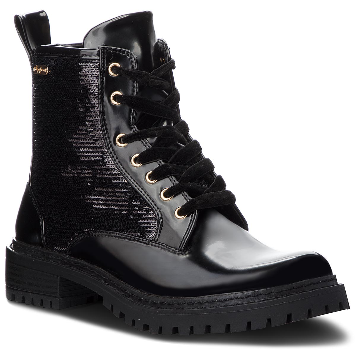 Trapery PEPE JEANS - Collie Sequins PLS50340 Black 999