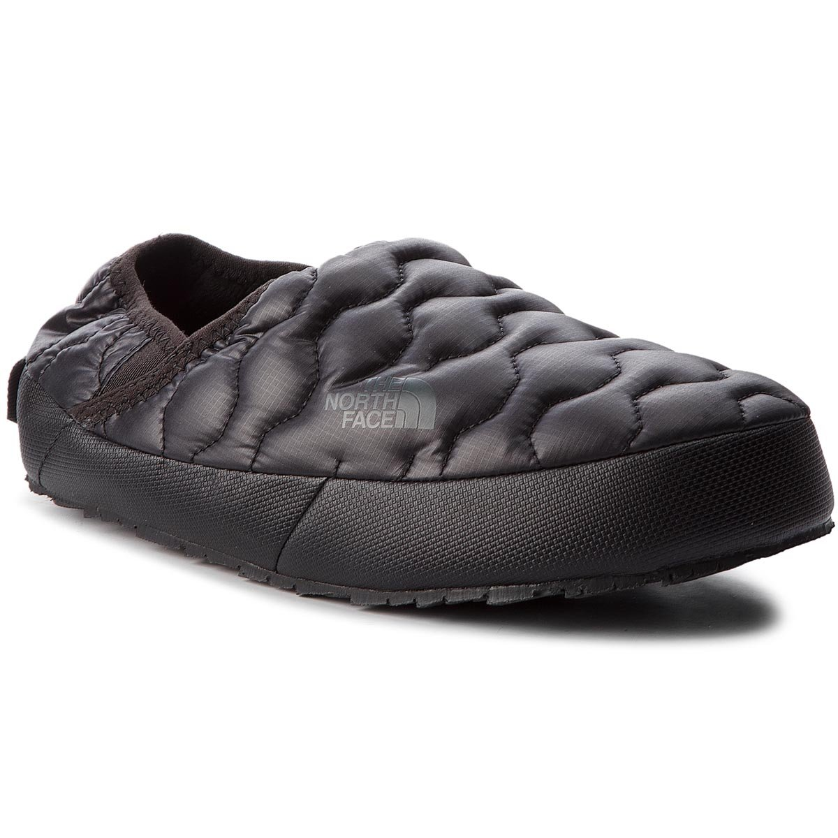 Kapcie THE NORTH FACE - Thermoball Traction Mule IV T993IFYWY Shiny Tnf Black/Beluga Grey