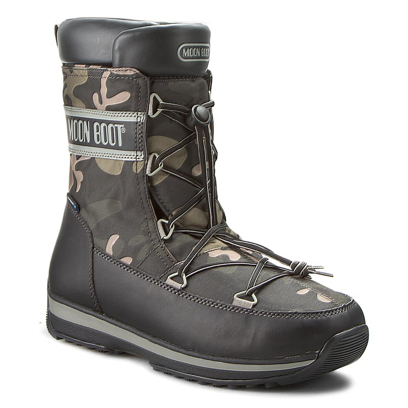 Śniegowce MOON BOOT - Mb Lem Military 14200200001 Black/Forest