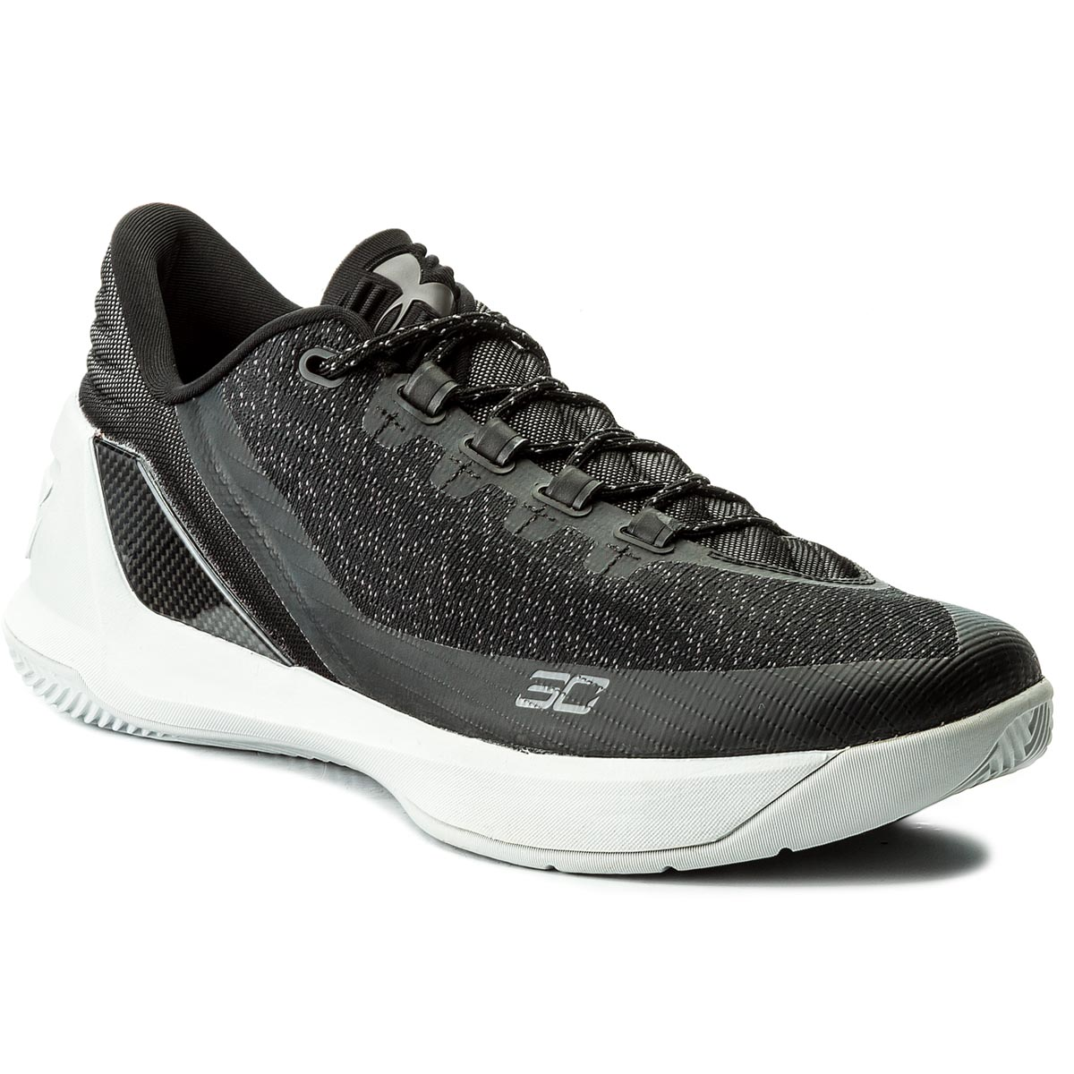 Buty UNDER ARMOUR - Ua Curry 3 Low 1286376-001 Blk/Wht/Wht