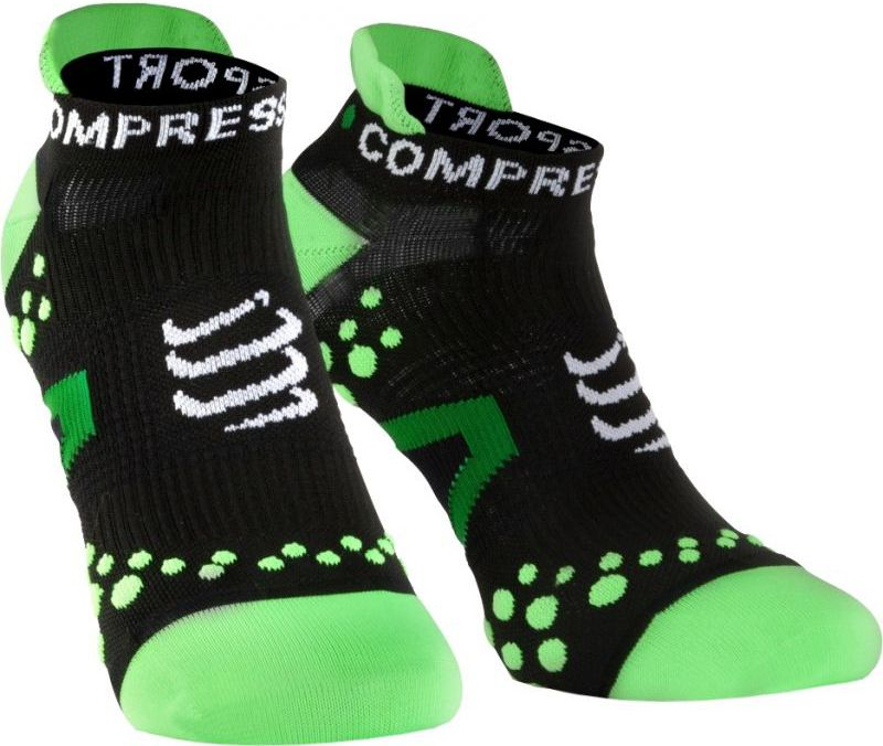 Compressport Skarpety Compressport Racing Socks V2 Run czarno-zielone r. T1 (RSLV2-99GR)