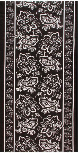 HAD Chusta Fleece Paisley Flower czarna