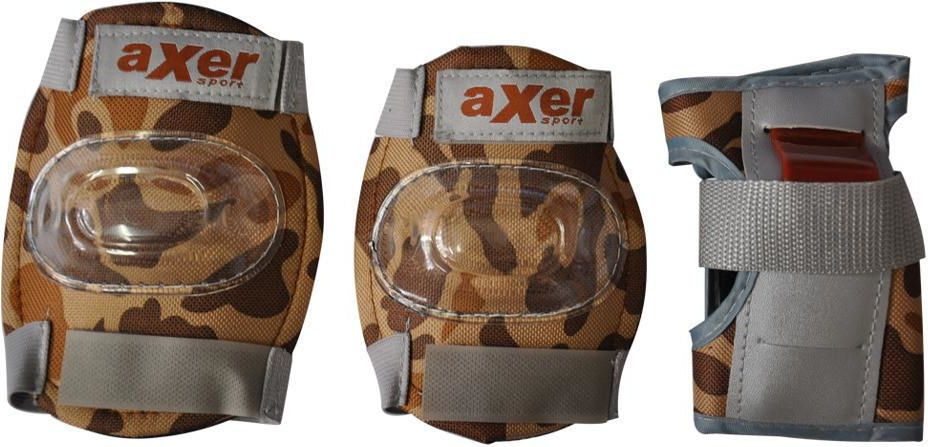 Axer Sport 3-PC PROTECTOR SET MORO BROWN, kolor brązowy, roz. L