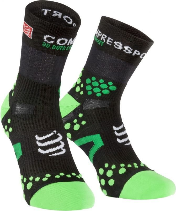 Compressport Skarpety Compressport ProRacing Socks V2.1 czarno-zielone r. T1 (RSHV211-99GR)