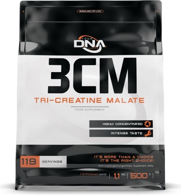 DNA Your Supps 3CM Tri-Creatine Malate 500g brzoskwinia DNA Your Supps brzoskwiniowy roz. uniw