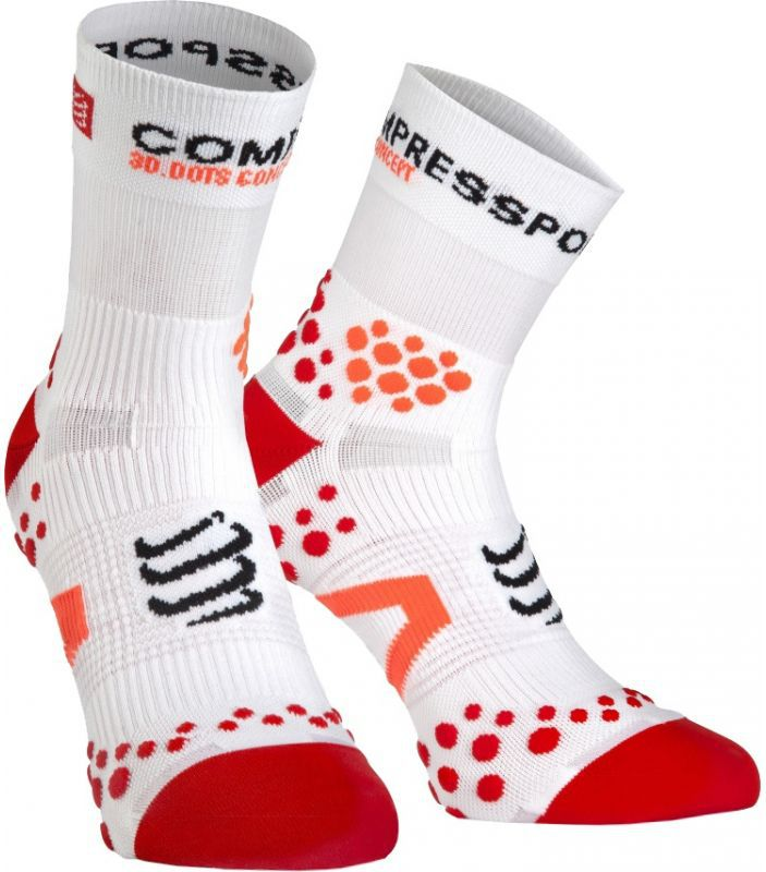 Compressport Skarpety Compressport ProRacing Socks V2.1 biało-czerwone r. T1 (RSHV211-00RD)
