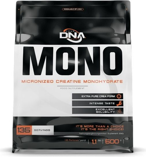 DNA Your Supps Mono Creatine 500g wiśnia DNA Your Supps brzoskwiniowy roz. uniw