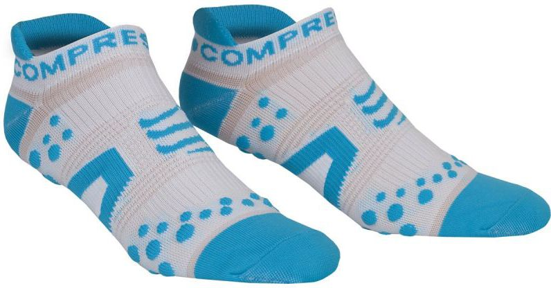 Compressport Skarpety Compressport Racing Socks V2 Run biało-niebieskie r. T1 (RSLV2-00BL)