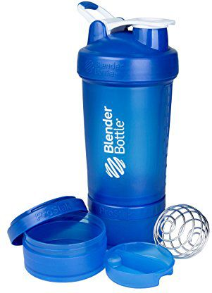 Blender Bottle Shaker do odżywek Blender Bottle ProStak 650ml niebieski - 7728