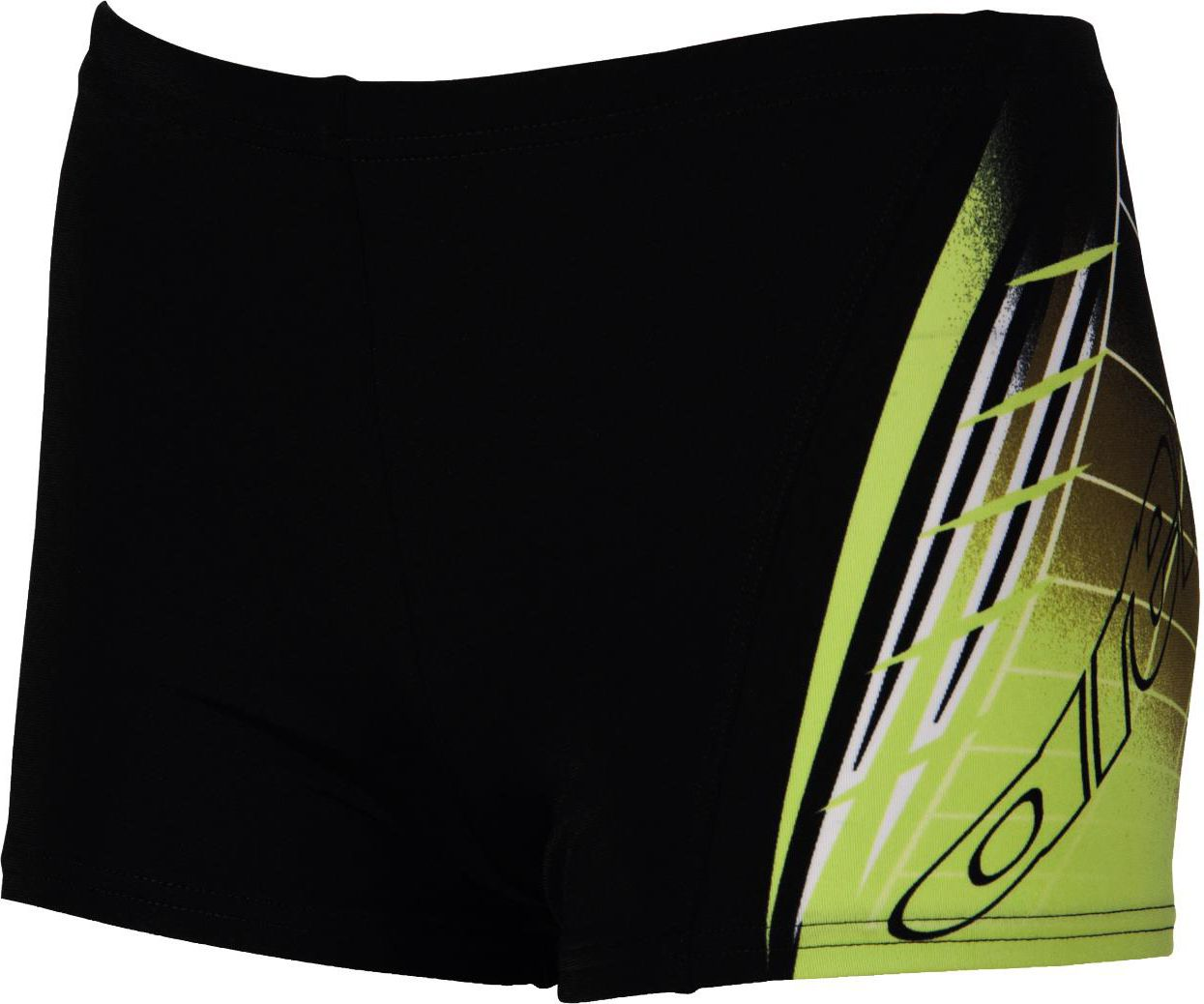 Arena Bokserki B AVENTURA JR SHORT BLACK,SOFT_GREEN r. 128 (8-9)