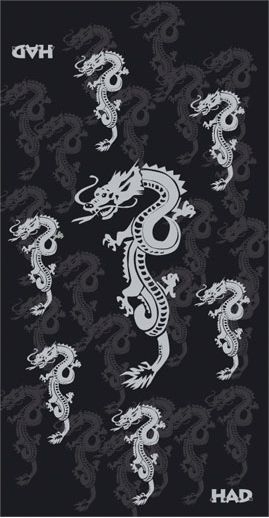 HAD Chusta Fleece Chinese Dragon czarna