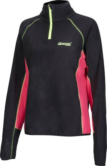 BERG OUTDOOR Bluza polarowa Three-pro Sweat czarno-różowa r. L (P-10-HK3220501-099-L)