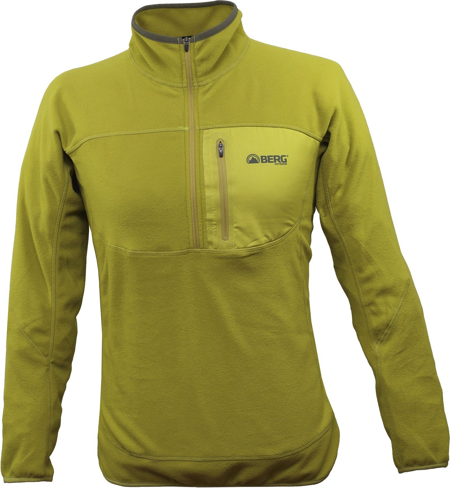 BERG OUTDOOR BERG OUTDOOR M bluza DHAULAGIRI 1/2 ZIP SWEAT kolor żółty, roz. XXL (P-10-HK4210503AW14-304-XXL)