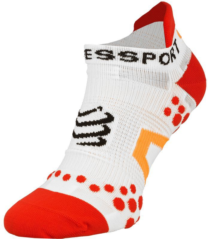 Compressport Skarpety Compressport Racing Socks V2 Run biało-czerwone r. T1 (RSLV211-00RD)