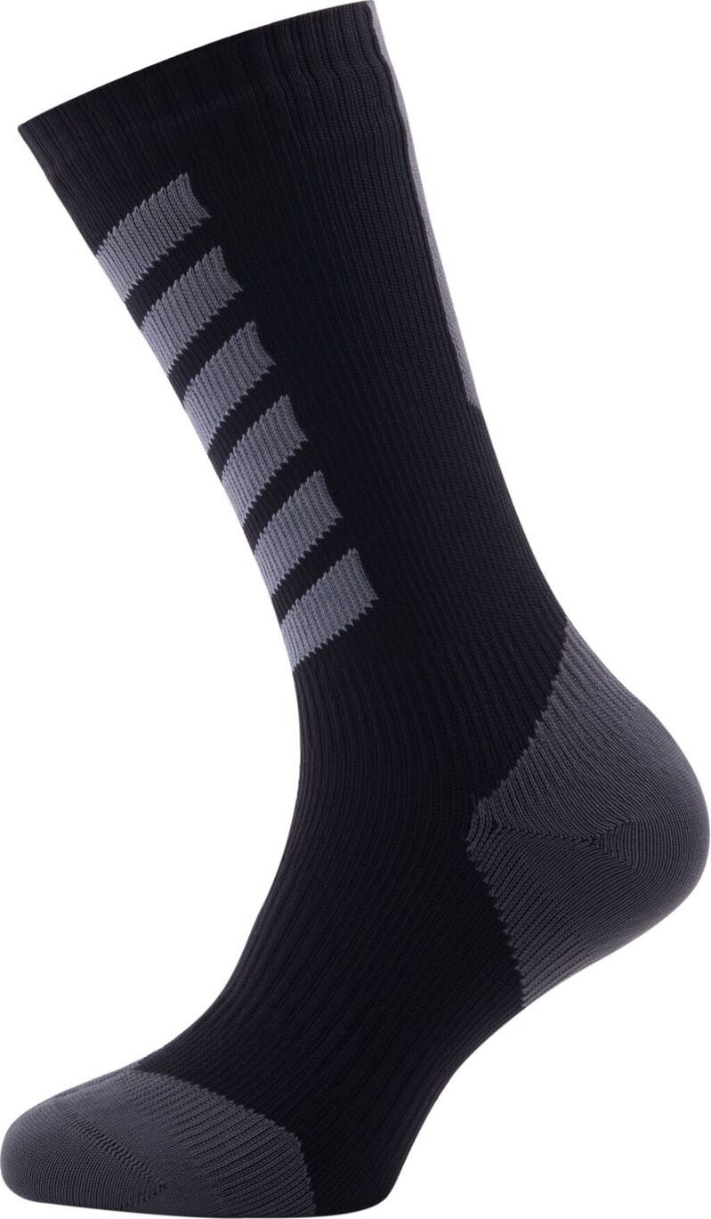 SEALSKINZ SS/ skarpety/ U'S MTB Mid Mid with Hydrostop, Black/ Charcoal/ Anthracite, L - 11116170501030
