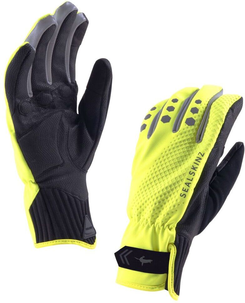 SEALSKINZ Rękawice rowerowe M'S All Weather Cycle Glove, Hi Vis Yellow/Black r. L