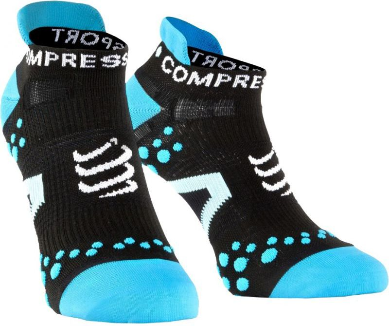 Compressport Skarpety Compressport Racing Socks V2 Run czarno-niebieskie r. T1 (RSLV2-99BL)