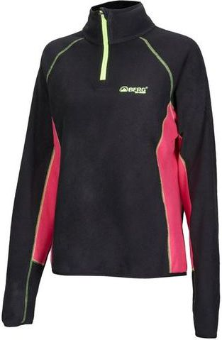 BERG OUTDOOR Bluza polarowa Carbon Fibre Sweat czarno-różowa r. XL (P-10-HK3220502-099-XL)