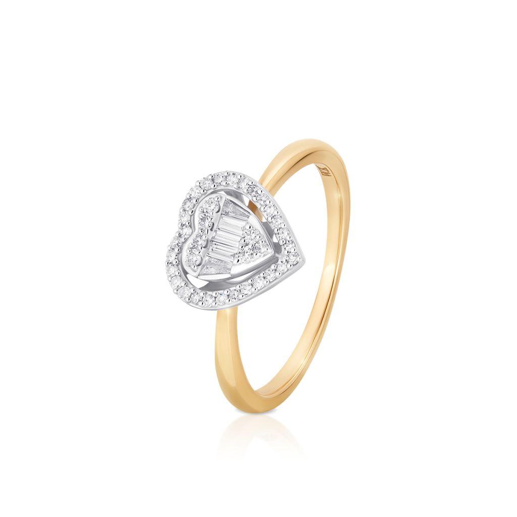 W.KRUK Unikalny Złoty Pierścionek – złoto 585, Brylant 0,04ct,diament 0,19ct – ZPA/PB+461K