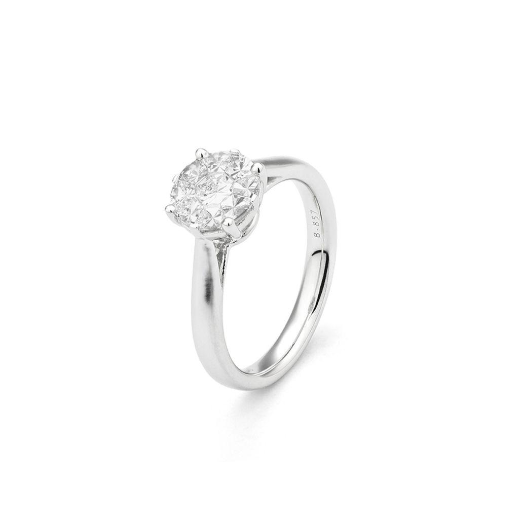 W.KRUK Unikalny Złoty Pierścionek – złoto 750, Diament 0,75ct – ZFT/PB+141B