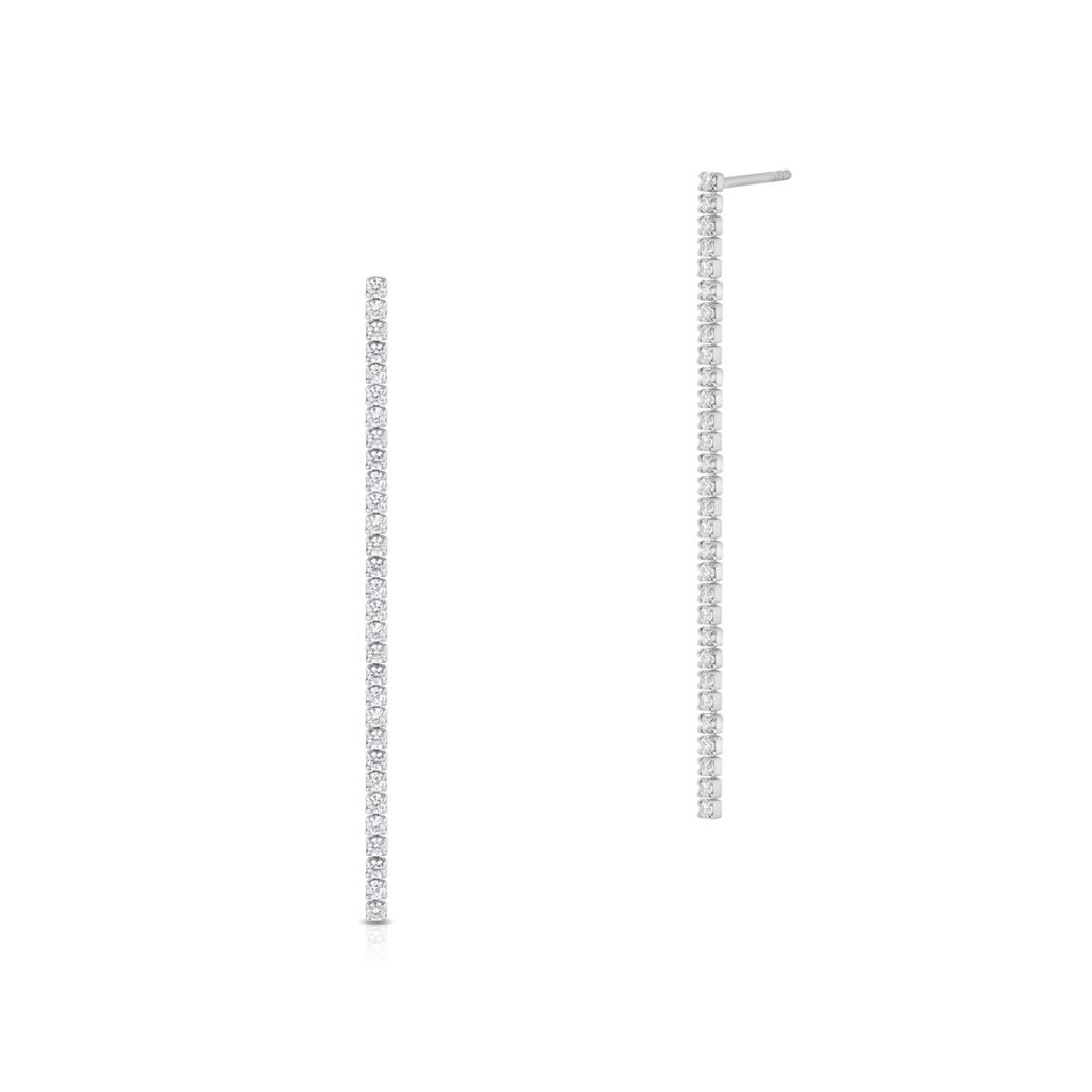 W.KRUK Piękne Srebrne Kolczyki – srebro 925, Cyrkonia – SHX/KC165