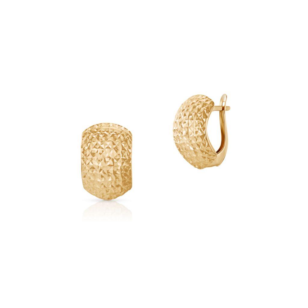 W.KRUK Wyjątkowe Złote Kolczyki – złoto 585 – ZAZ/KZ455
