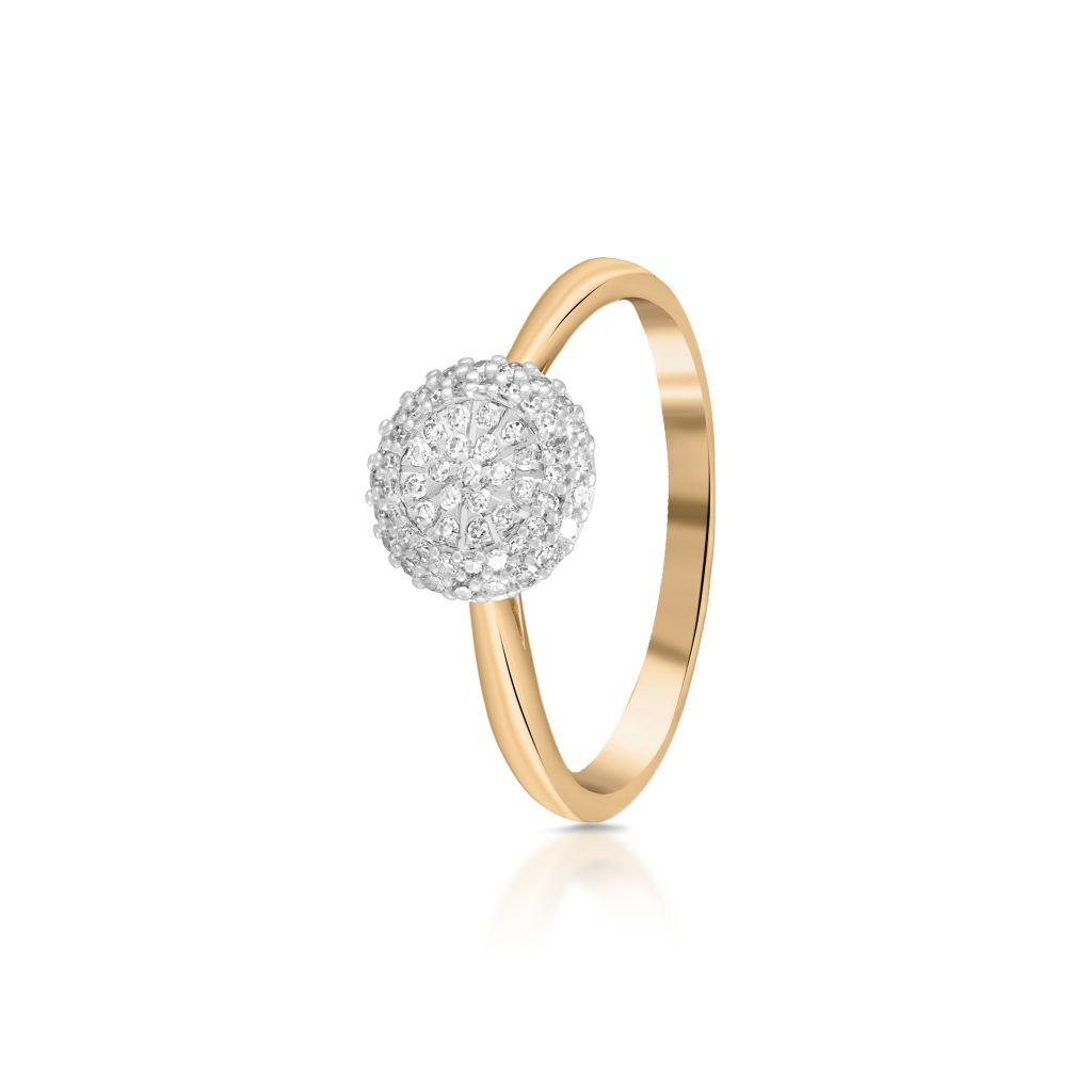 W.KRUK Unikalny Złoty Pierścionek – złoto 585, Diament 0,21ct – ZPA/PB+418K